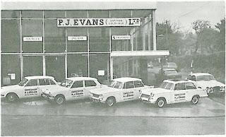 P J Evans (SuttonColdfield) Ltd in 1967