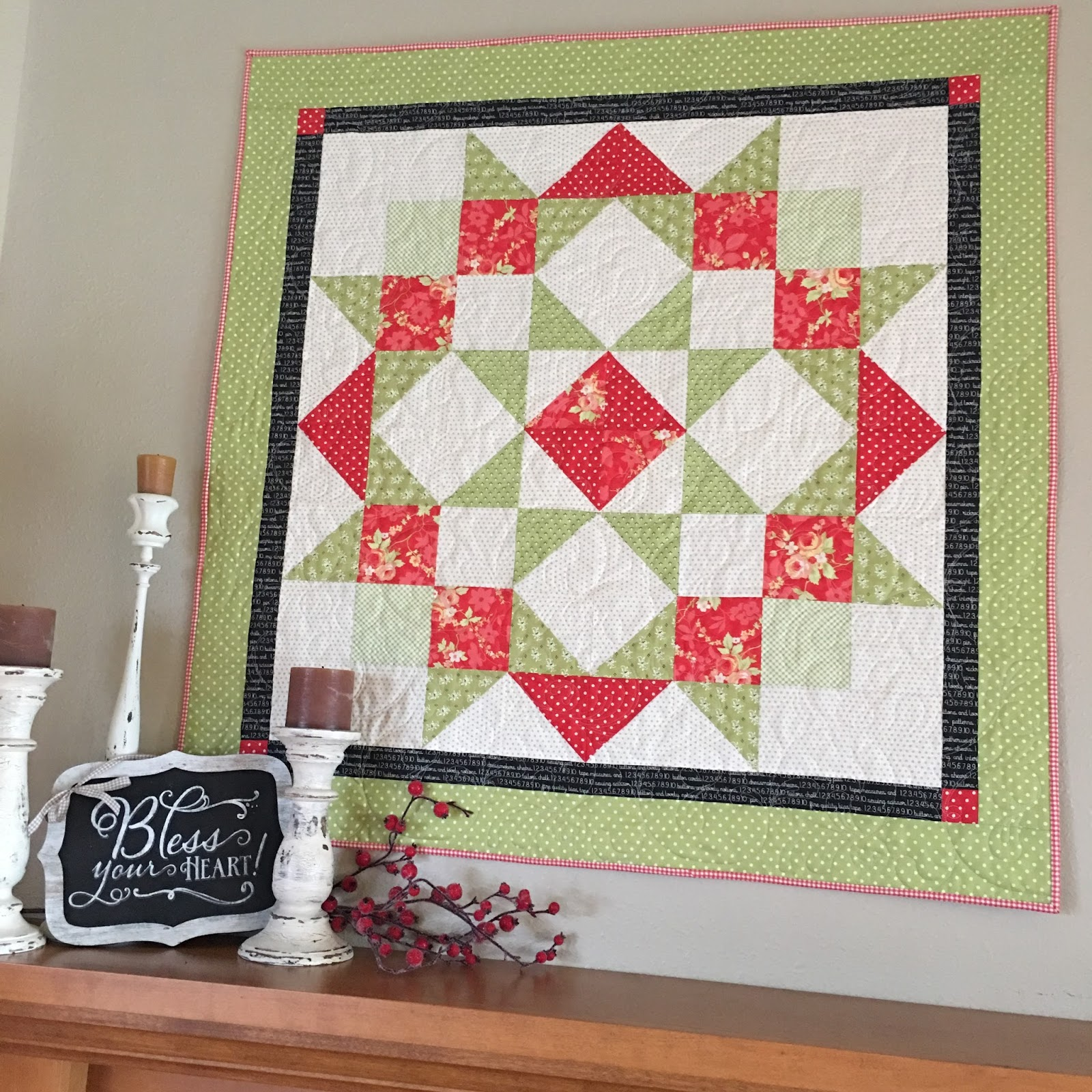 Carried Away Quilting: Moda Love Quilt for Christmas