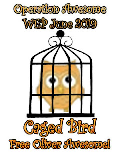 #WEP Caged Bird #WEPFF Operation Awesome's Oliver is in jail for writing crimes.