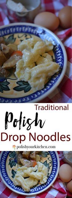 Polish Drop Noodles (Kluski Kładzione)