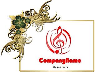 تحميل شعار للموسيقي والأغاني مفتوح للفوتوشوب, music and songs psd logo design download
