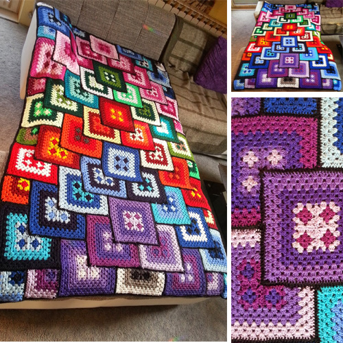 Granny Patchwork Blanket - Free Diagram