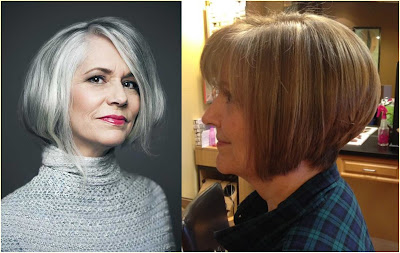 Stacked Bob for Older Women - Hairstyles For Gray Hair Over 60