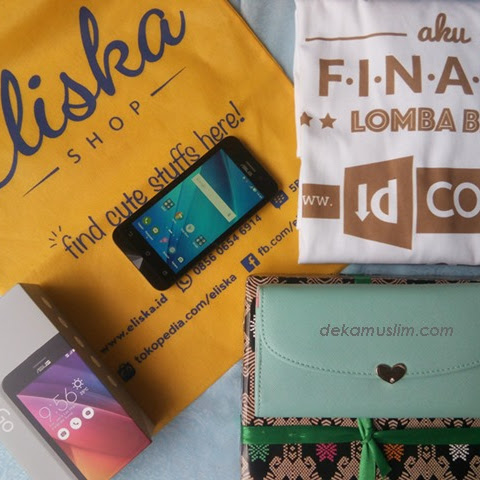 ASUS Zenfone Go ZB452KG, Dompet, T-shirt, dan Template Blog