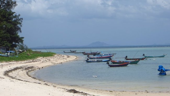 Рыбацкие лодки у берега