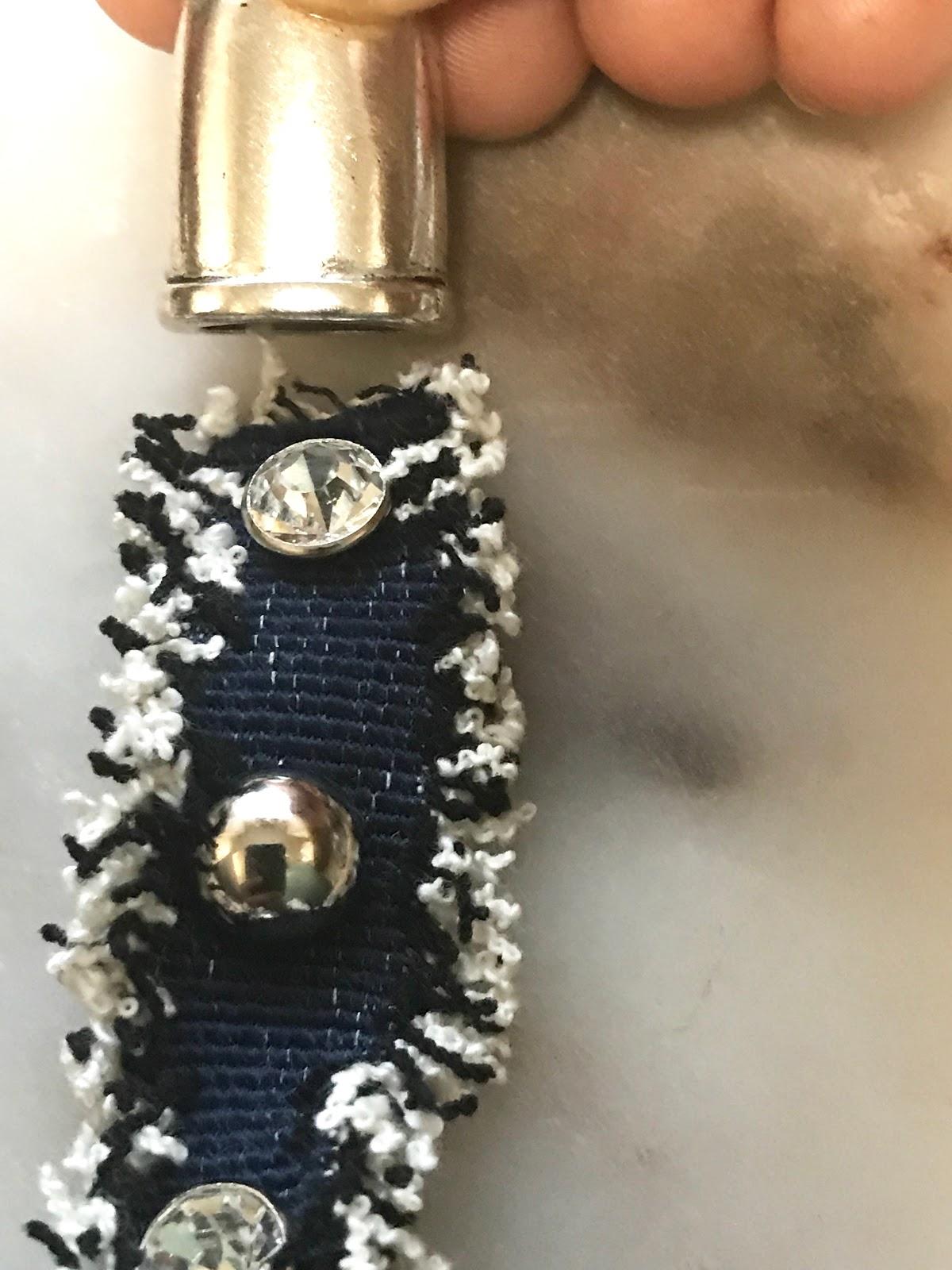 Image: Making Denim Earrings With Rhinestones