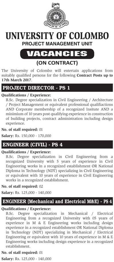Vacancies For Project Director Engineer Civil Engineer