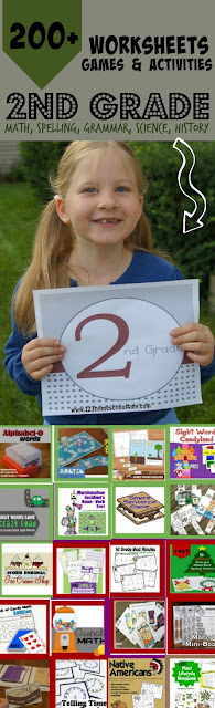 WOW! Over 200+ free printable 2nd GRADE games, 2nd grade math worksheets, and more! Perfect for extra practice, summer learning, and homeschooling. (first grade math, grammar games, science projects, and history for kids)