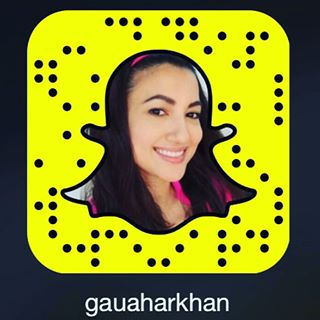 Gauahar Khan snapchat Photo