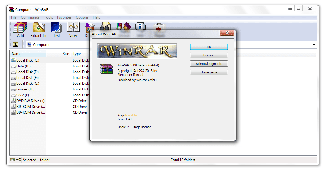 Download winrar free 32 & 64 bit for pc or laptop windows xp/7/8.