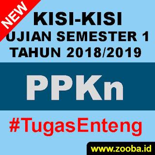 Kisi-Kisi UAS Ganjil PPKn 2018 2019 SMK Se-Pemalang