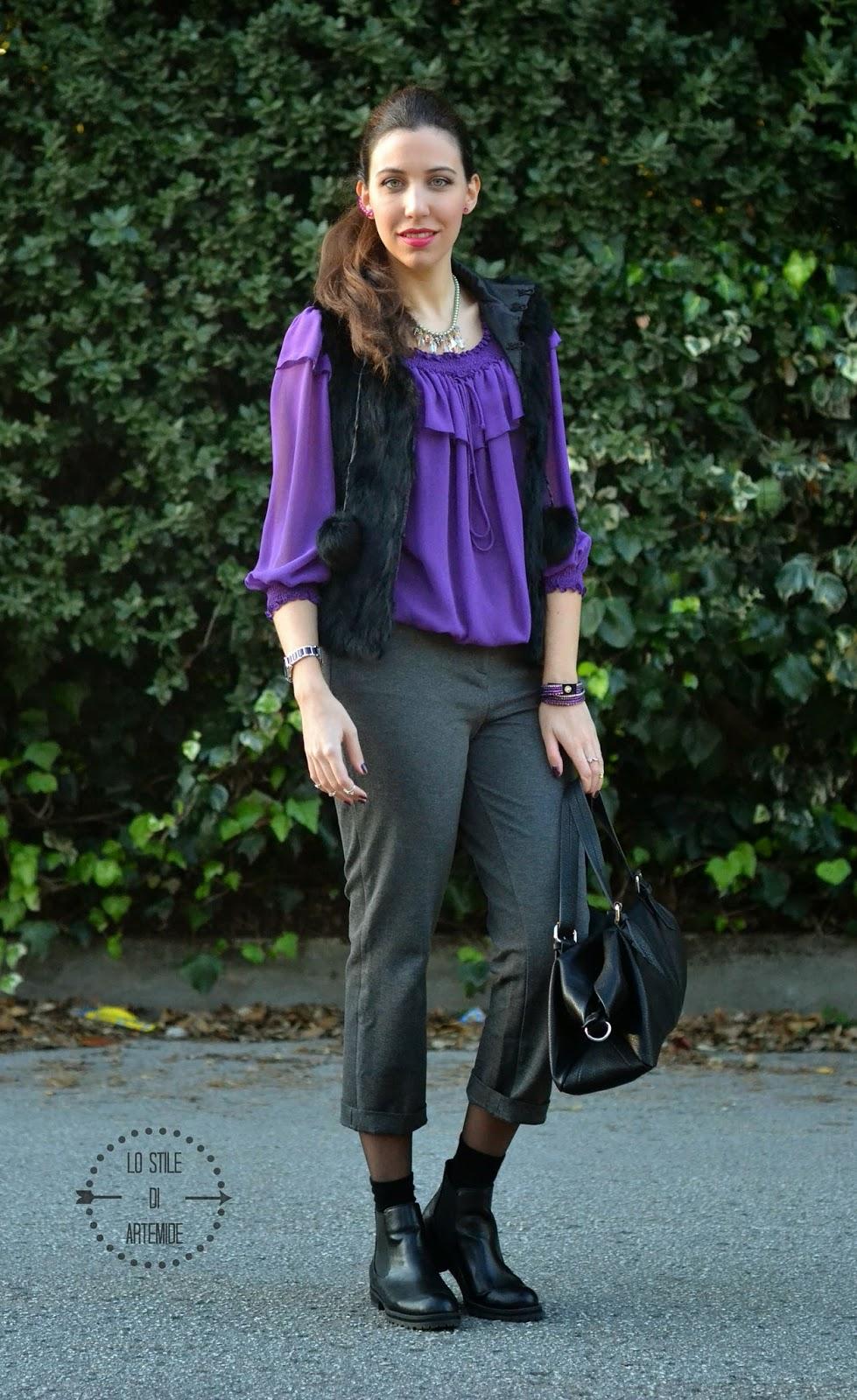 blusa viola zara