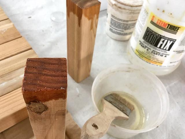 rot fix epoxy sealer railing woodwork repair