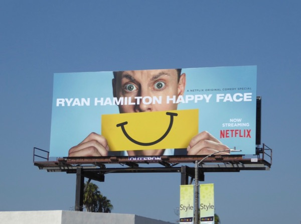 Ryan Hamilton Happy Face billboard