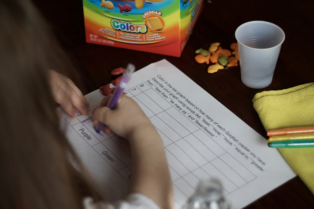 how to make snack time fun and educational, Goldfish crackers, Goldfish snack, Goldfish activities, Goldfish bar graph