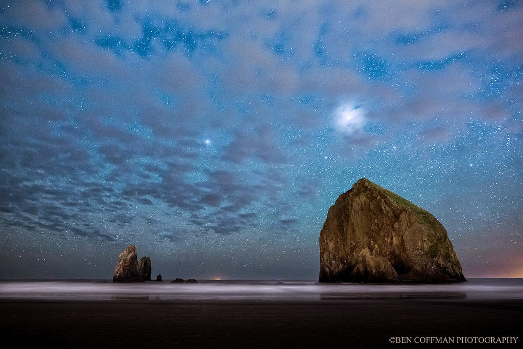13. Haystack Rock at Cannon Beach - The World at Night with Clear Skies and No Light Pollution