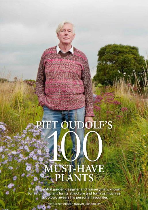 Las 100 plantas imprescindibles para Piet Oudolf