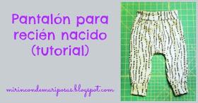 Mi Rincon De Mariposas Pantalones Para Recien Nacido Tutorial