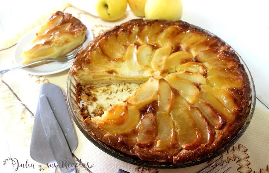 Tarta de manzana con pasta flora. Julia y sus recetas