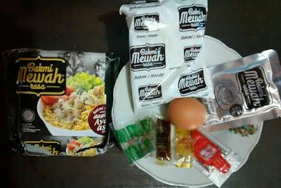 Bahan-bahan Omelette Bakmi Mewah