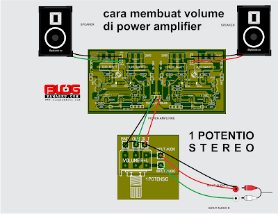 Cara membuat volume di power amplifier