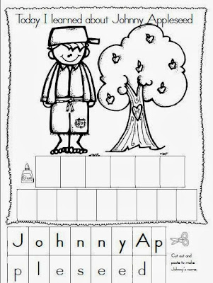 Maggie's Kinder Corner: Happy Birthday Johnny Appleseed