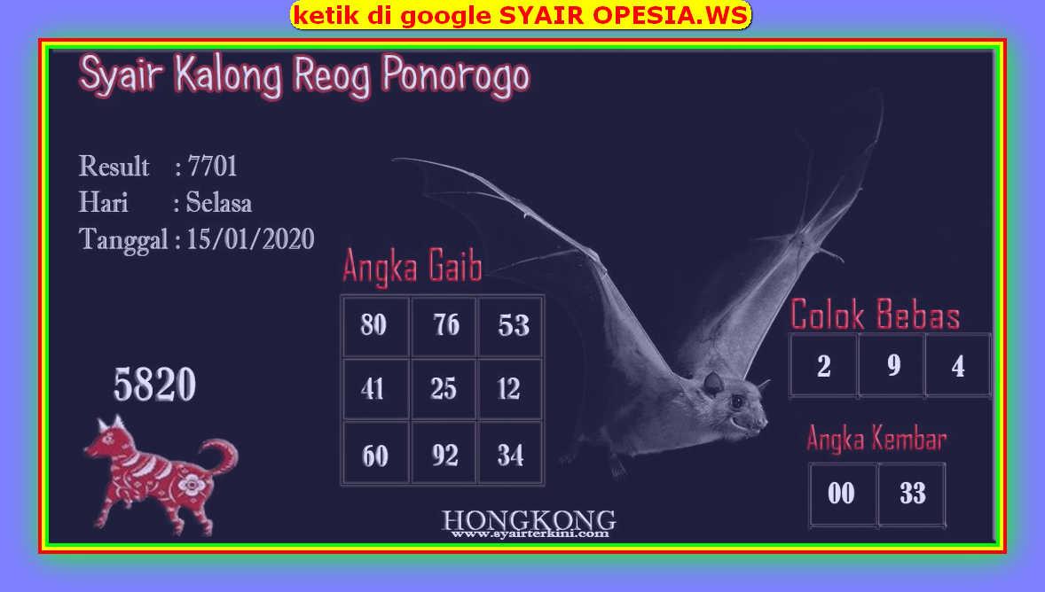 Kode syair Hongkong Selasa 14 Januari 2020 93