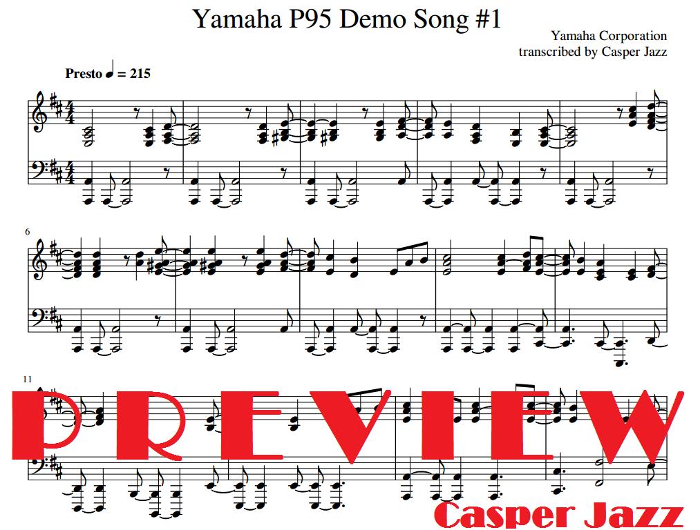 Yamaha Demo Songs Sheet Music