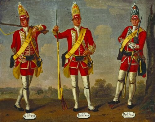 37th, 38h and 39th Regiments of Foot, Grenadiers, 1751