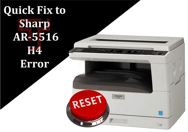 Sharp-AR-5516-H4-Error