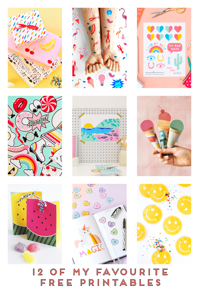 12 OF MY FAVOURITE FREE PRINTABLES