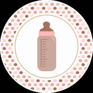 Toppers o Etiquetas para Imprimir Gratis de Huellas de Bebé en Rosa.