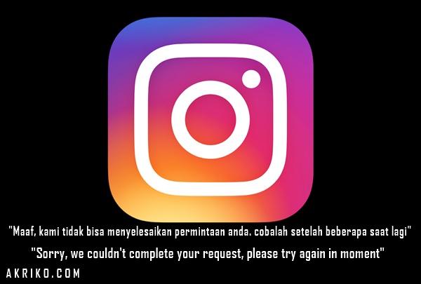 Instagram Tidak Bisa Edit Profil dan Muncul Pesan