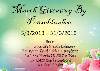March Giveaway By Penselduabee