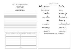 Caligrafia para imprimir e caderno de caligrafia - Atividade Caligrafia - 3