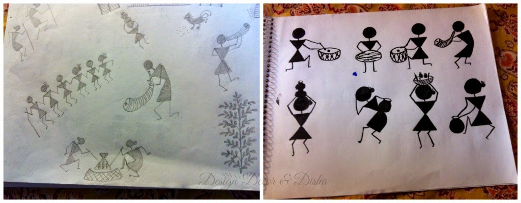 Simple Warli Art Designs