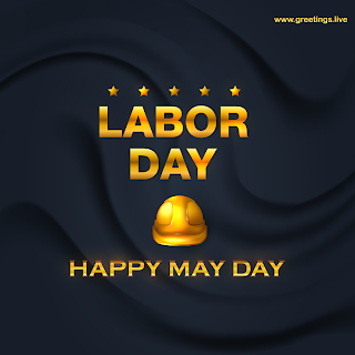 international Labor day May day celebrations golden workers helmet