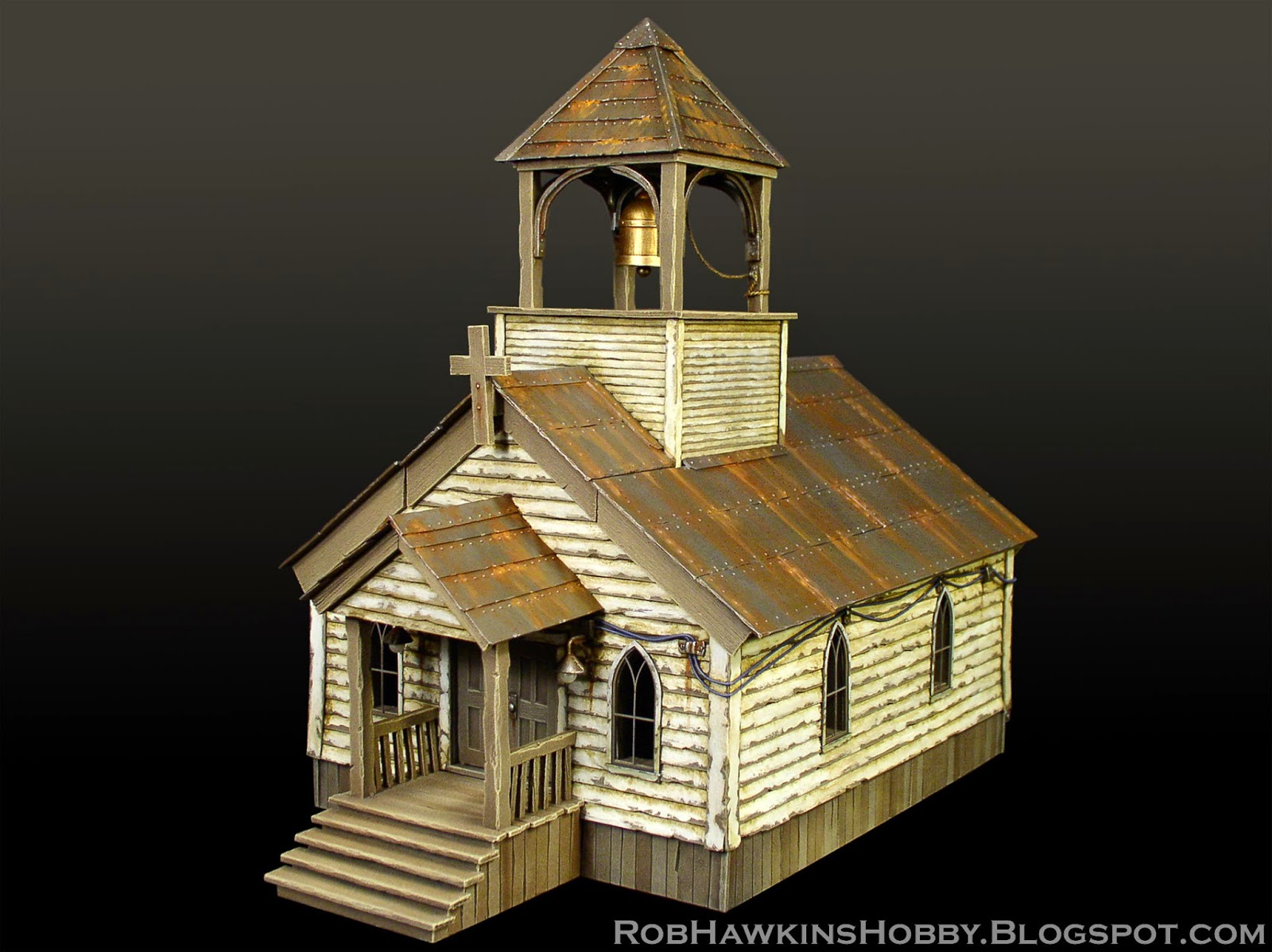 Rob Hawkins Hobby Wild West Church And Water Tower