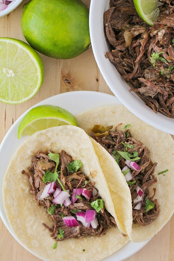 Instant Pot Barbacoa Tacos from The Baker Upstairs