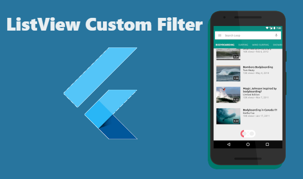 Flutter - ListView items custom filter  ~ Developer Libs