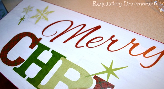 Wooden Merry Christmas Sign DIY