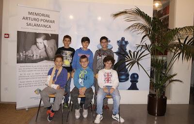 Participantes en el Sub-12 del I Memorial Arturo Pomar Salamanca