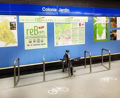Inaugurado en colonia jard n el primer aparcamiento de for Metro ligero colonia jardin