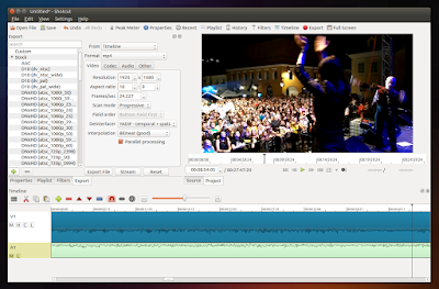 Shotcut video editor Ubuntu
