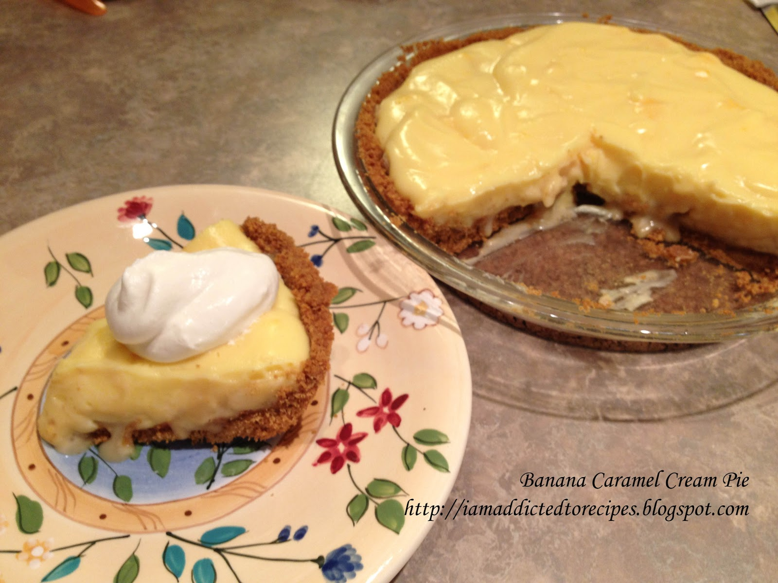 Addicted to Recipes: Banana Caramel Cream Pie