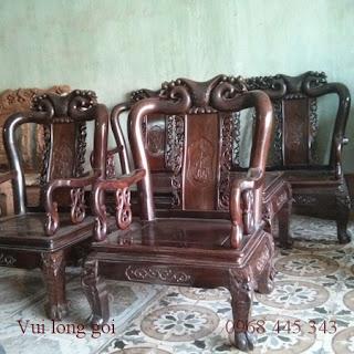 bộ bàn ghế gõ trắc