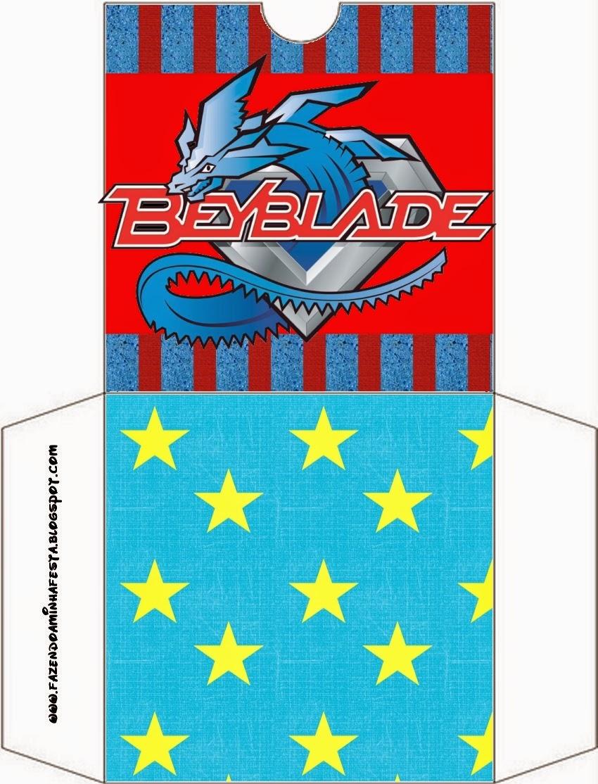 Funda para Imprimir Gratis de Beyblade.