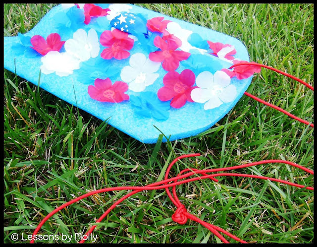 Help your students observe Memorial Day with a flower boat floating event.  These patriotic flower boats are simple to make.  Children can help decorate the boats by gluing flowers on to them.  Float the boats in a small plastic pool, pond, or other body of water.  Have a moment of silence, give thanks, or read the names of local men and women who died while serving the United States Armed Forces.  Children love the idea of floating boats which makes this a highly engaging Memorial Day activity!