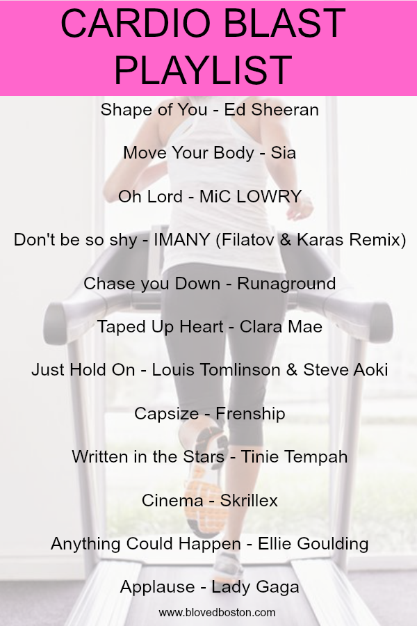 workout songs, playlist for cardio, treadmill songs, spin songs