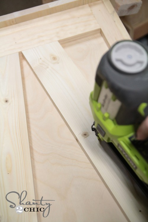 Drill plywood - DIY Desk Nightstand